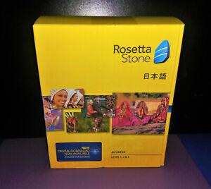 Rosetta Stone Japanese Level 1,2,&3 for PC, Mac cd-ROM - Brand New Sealed