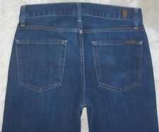7 For all Mankind Mens Slimmy Jeans Skinny Sz 30 X 28  100% Cotton  USA Made