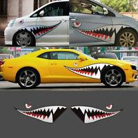 150cm 59'' Shark Mouth Teeth Vinyl Car Boat Kayak Sticker Decal Badge Waterproof