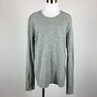 Horny Toad Mens Sweater Size L Gray Crewneck Long Sleeve Wool Cashmere