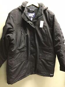 Women's Lands End Black Hooded BNWT Winter Coat UK XL