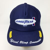 13ee457a56a Vintage NOS Good Year Blimp Commander Trucker Hat Mesh Swingster USA Made  Rare