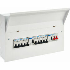 Pep Consumer Unit 10 Way Metal High Integrity Dual RCD Populated Consumer Unit