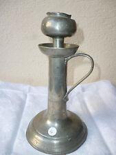 lampe à huile ancienne étain 18ème 19ème XVIII XIX siècle bulbe 4