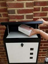 NEVER MISS A PARCEL AGAIN  A STUNNING LOCAKABLE WEATHERPROOF PARCEL/LETTERBOX