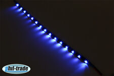 SMD LED Leiste 30cm leuchtet seitlich Strip side shine flach selbstklebend BLAU