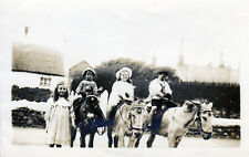 Children & Donkeys Old Post Office Cleveleys RPPC c.1910 . Blackpool