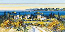 Kerfily : En Chemin Tableau Prêt 50x100 Tableau Mural Mer Provence