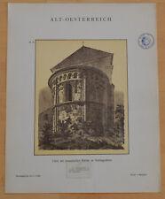 Die romanische Kirche zu Schöngrabern Österreich Lithographie Alter Druck 1897