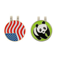 2Pcs Magnetic Golf Ball Marker and Hat Clip - Golf Accessories