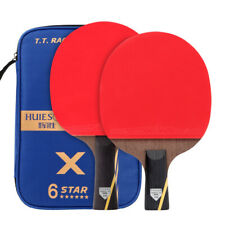 2Pcs 6 Star Wenge Wood Carbon Fiber Table Tennis Racket Set Ping Pong Paddle Bat
