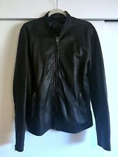 Lucky Brand Men's Black Distressed Bonneville Leather Moto Jacket Size Med $499