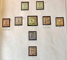Série timbres Alsace-Lorraine 1870-1871 n°1 à 7 Neufs & oblitérés, TB