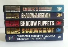 Lot 5 Orson Scott Card (HC) Ender's Shadow Series #1 2 3 4 + Ender in Exile