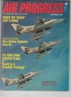 Air Progress Magazine Sept 1968 Douglas A-4 Skyhawks Airline Captains Stay Fit