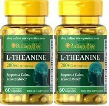 2X L-Theanine 200 mg x 60 ( 120 ) Capsules Puritan's Pride - 24HR DISPATCH