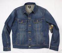 New Lee Men's Denim Jacket Trucker Riders Sizes M, L, XL, XXL