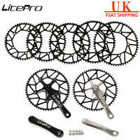 Litepro Hollow 130bcd Cycling Crankset 170mm Crank Set Single Chainring 50-58T