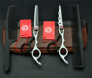 "Purple Dragon® Japanese 6"" Cutting & Thinning Hairdressing Scissor Set RRP £195"
