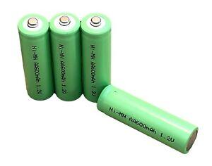 50pk Wholesale Bulk AA Rechargeable Batteries Ni-MH 1.2v 300 600 mAh Solar Light