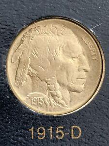 1915-D Denver Mint Buffalo Nickel Beautiful ICG AU-55