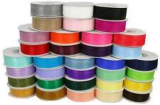 "7/8"" Organza Sheer Plain Ribbon 25 yards each Roll 100% Nylon"
