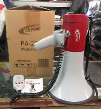 Nice Califone Pa-25R 25W Megaphone with Siren Pa25R