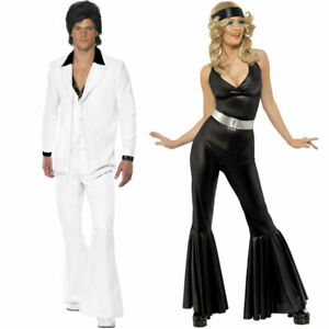 1970s Disco Couples Costumes 70s Fancy Dress