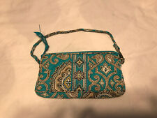 Vera Bradley Small Wristlet Bag in Bali Blue LN