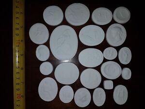 23 Grand Tour Cameos Intaglios Gems Medallions plaster Seals European Coins New