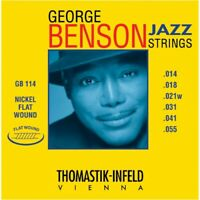 Thomastik GB114 George Benson Custom Heavy Flatwound Jazz Guitar Strings