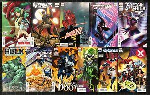 2099 Variant Month Lot of 11 comics NM Doom Loki Daredevil Hulk X-Men FF + More