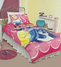 Disney Princess Duvet Doona Quilt Cover Set | Belle | Snow White + More | Single