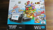 Nintendo Wii U Super Mario 3D World Deluxe Set 32GB Black Console