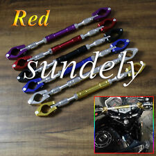 "Sundely Hi-Q Red BIKE Motorcycle Handlebar Brace & Clamp bar Set 7""/8"" handle"