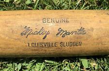 "Vtg 1960s Mickey Mantle Louisville Slugger Baseball Bat 33"" Trenton Rec Michigan"