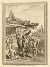 Circumcision of the King or Sultan of Banten (Bantam), Java 1746 old print