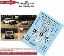 DECALS 1/18 REF 720 RENAULT 5 GT TURBO BALESI TOUR DE CORSE 1989 RALLYE RALLY