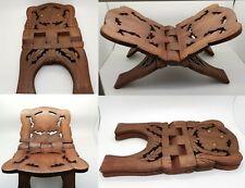 New Quran Book Holder Stand Rihal Rehal Wood Carved Sturdy Interlocking Design