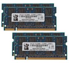 New 8GB 4X 2GB 2RX8 DDR2 667MHz PC2-5300S CL5 SODIMM Elpida Chips Laptop Memory