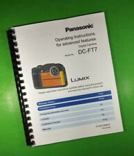 "Panasonic 8.5X11"" Dc-Ft7 Camera 200 Page Laser Owners Manual Guide"