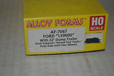 Alloy Forms 7067 Ford LS9000 Tractor w/ 22' Dump Trailer Ho Scale Kit