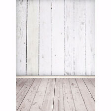 5x7ft Silk White Wood Floor Photography Backdrop Background Studio Photo Props