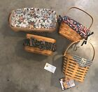 Vintage Basket, 4 Longaberger Baskets, Barn Raising Basket, Key Basket, Bread