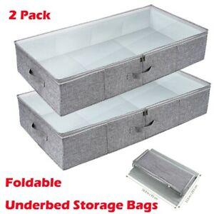 Fabric Underbed Storage Boxes For Sale Ebay