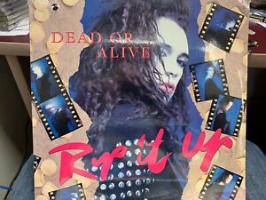 DEAD OR ALIVE  RIP IT UP LP 1987 EPIC 44255 DJ PROMO SEALED