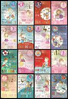 RELATION or OPEN AGED 1 TO 5 Quality BIRTHDAY Card With BADGE