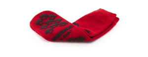 McK Terries Adult X-Large Red Above the Ankle Slipper Socks