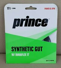 Prince 1.25 mm Synthetic Gut w/ Duraflex 17 Black