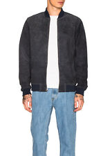 NEW OBEY PROPAGANDA BLUE CLIFTON SUEDE JACKET MEN'S SMALL